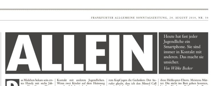 Wibke Becker, Allein, FAS, 24.8.14